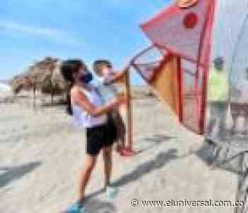 Playas de Puerto Colombia y Salgar cuentan con canecas traga plásticos - El Universal - Colombia