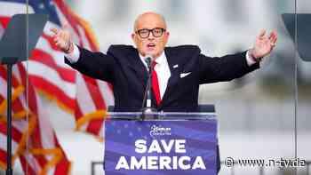Menge zu Kapitol-Strum angereizt: Trumps Anwalt Giuliani droht Kammer-Rauswurf