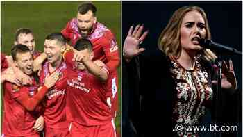Adele sends her love to Chorley after 'Someone Like You' tribute - BT Sport
