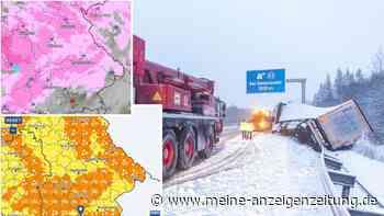 Wetter-Warnung: Schneewalze rollt aktuell über ganz Bayern - Dazu kommt Sturm