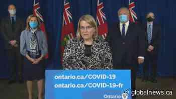 Coronavirus: Ontario solicitor general warns enhanced enforcement under new emergency order