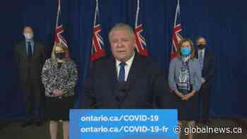 Coronavirus: Ontario Premier Ford announces state of emergency, stay-at-home order