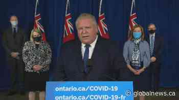 Coronavirus: Ontario Premier Ford says he 'takes full responsibility' for COVID-19 situation in province