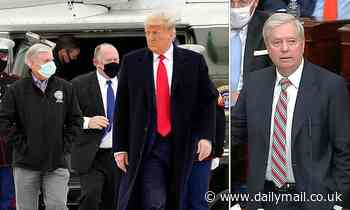 Lindsey Graham flies on Air Force One with the president - after saying 'enough is enough'