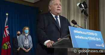 A look at new coronavirus restrictions under Ontario's stay-at-home order