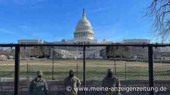 Nach Sturm aufs Kapitol: Sorge vor Gewalt bei Biden-Amtseinführung - Bewaffnete Nationalgardisten in Washington