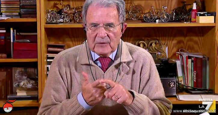 """Crisi di governo, Prodi a La7: """"Aprirebbe orizzonti drammatici. Abbiamo la presidenza del G20, come faranno a credere che siamo seri?"""""""
