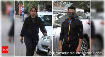 Aamir-Ira snapped outside Imran's residence