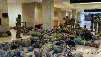 Exhausted, Armed National Guard Members Sleep on Capitol Floor