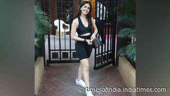 Alaya F spotted at a dance workshop in Bandra