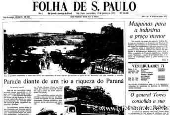 1971: Rio Barrinha inunda rodovia no PR, e 1.200 caminhões estão parados - Folha de S.Paulo