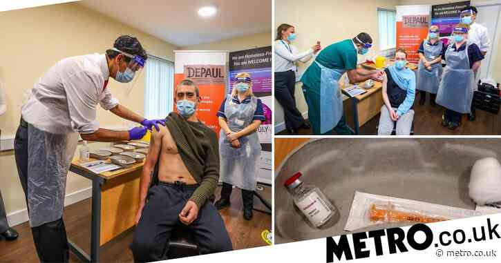 Homeless people given the Covid vaccines by council in UK first