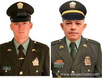 Policías Eliécer Flórez y David Bustamante, asesinados en Puerto Libertador, Córdoba - ElEspectador.com