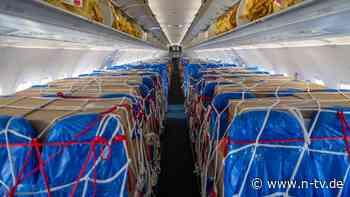 Paletten statt Passagiere: Ferienflieger wollen sich mit Luftfracht retten