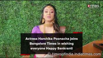Actress Harshika Poonacha wishes everyone happiness on Makara Sankranti