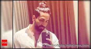 Ayushmann Khurrana shows off his man bun