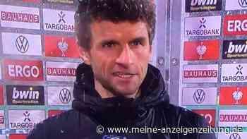 Thomas Müller blafft ARD-Reporterin an - Bayern-Star platzt live im TV der Kragen