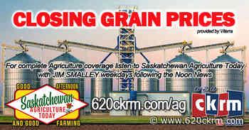 Closing grain prices Thursday Jan 14 - 620 CKRM.com