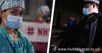 Coronavirus protests outside Downing Street as NHS staff chant 'Boris must go'
