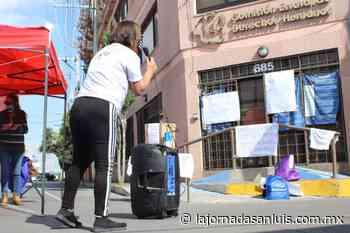 Protestan mujeres por apatía de la CEDH de San Luis Potosí - La Jornada San Luis