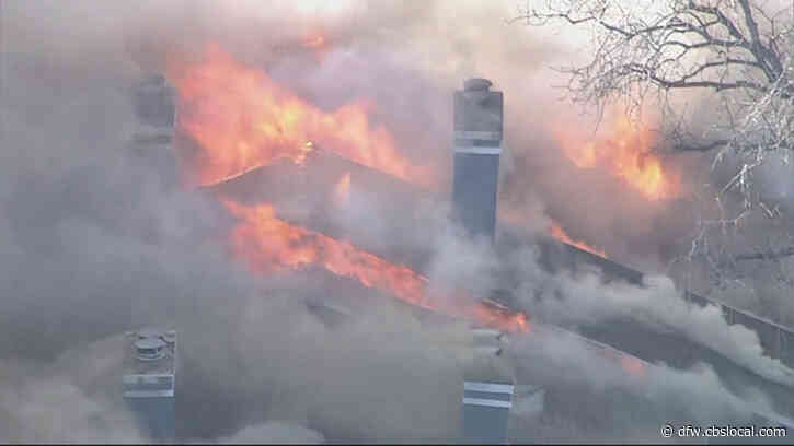 Firefighters Battle Wind-Driven 3-Alarm Apartment Fire In Euless