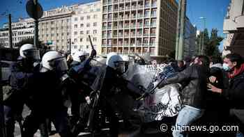 Greek police clash with protesters over campus police plan