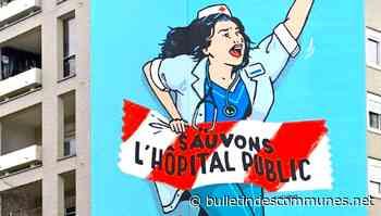 Hommage aux soignants : une grande fresque de soutien à Montreuil - Bulletin des Communes