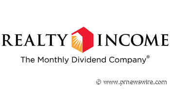 Realty Income Closes 12.075 Million Share Common Stock Offering
