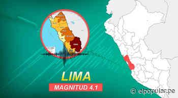 Sismo de magnitud 4.1 se sintió esta tarde en Lima y Callao, confirmó IGP - ElPopular.pe