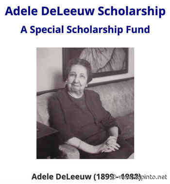 Plainfield Students Can Apply for 2021 Adele DeLeeuw Scholarship - TAPinto.net