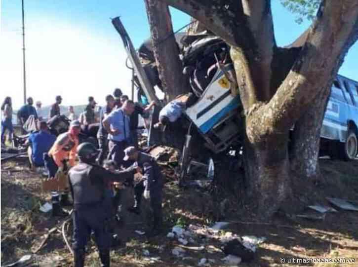 Accidente de tránsito en Tinaquillo deja 7 fallecidos y 46 heridos - Últimas Noticias
