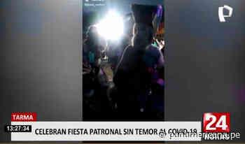 Tarma: ciudadanos celebraron fiesta patronal pese a segunda ola de COVID-19 | Panamericana TV - Panamericana Televisión