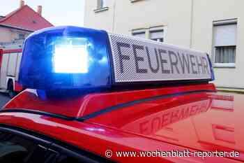 Bewohnerin erleidet Rauchvergiftung: Brand in Tiefenbach - Bad Schönborn - Wochenblatt-Reporter