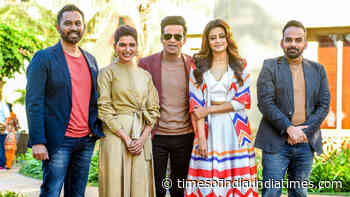 Manoj Bajpayee, Samantha Akkineni & Priyamani were seen at an event in Mumbai today