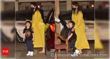 Photos: Kareena spotted with son Taimur