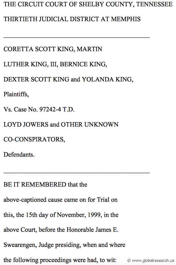 """Martin Luther King Day 2021: Memphis, Tenn. Court Decision, U.S. """"Government Agencies"""" Found Guilty in Martin Luther King's Assassination"""
