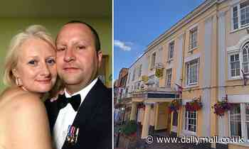 RAF officer's widow wins payout after he fell to his death from hotel window