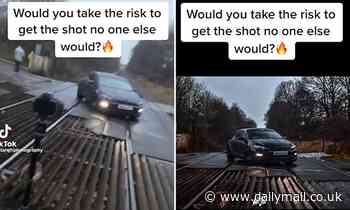Police slam TikTok video showing 'staggeringly stupid' car parked on railway line