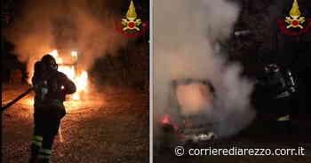 Arezzo, auto distrutta dal fuoco a Terranuova Bracciolini: accertamenti sull'origine dell'incendio - Corriere di Arezzo