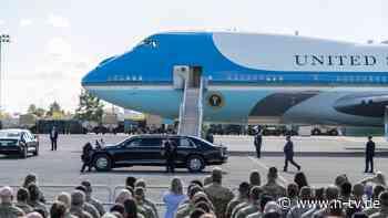 Auf einem Militärflugplatz: Trump plant wohl eigene Abschiedszeremonie