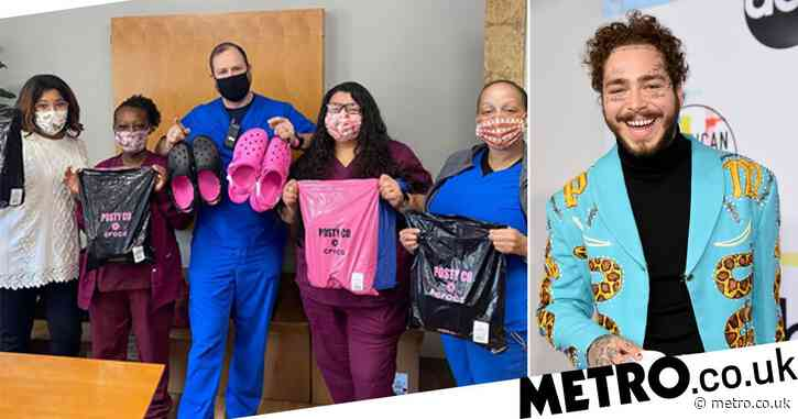 Post Malone donates sold-out Crocs to health workers on the frontline