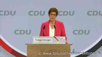 Kramp-Karrenbauer ruft CDU zu Geschlossenheit auf