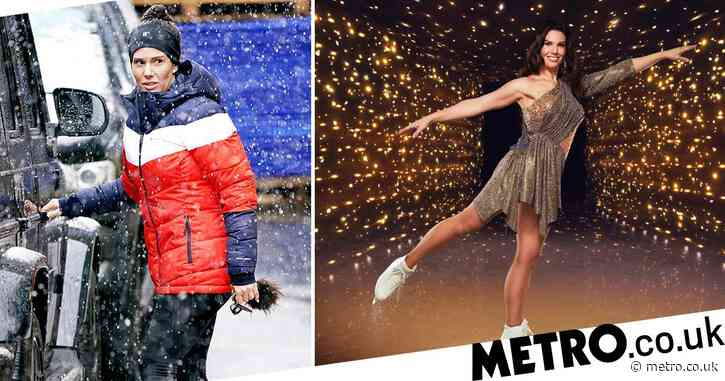 Dancing on Ice 2021: Rebekah Vardy braves wintry weather as she heads to training