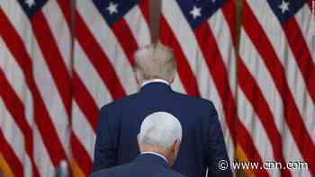 The President and VP are back on speaking terms, but they're following entirely divergent paths in the twilight of their administration
