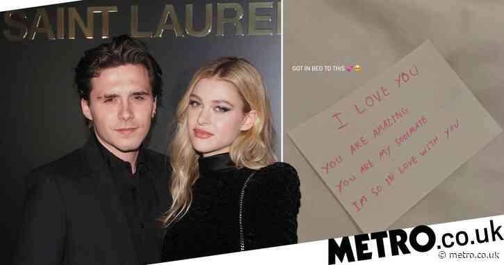Nicola Peltz shares adorable love letter fiancé Brooklyn Beckham left her in bed