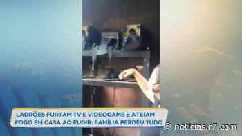 Criminosos furtam e incendeiam casa em Matozinhos (MG) - HORA 7