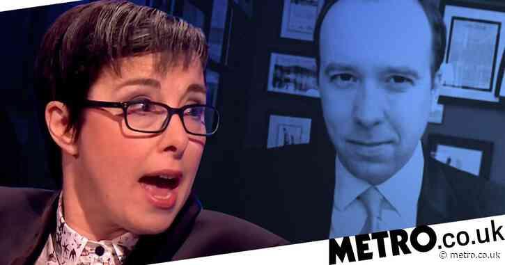 Sue Perkins calls Matt Hancock 'utter smirking d**k' over free school meals interview