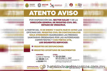 Limita Registro Civil de Coatzacoalcos trámites a realizar en sus oficinas - El Heraldo de Coatzacoalcos