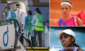 Chaos as two people on board a flight filled with Australian Open players test positive for Covid