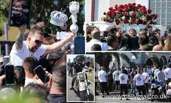Mourners gather at Amar Kettule's funeral in Fairfield in Sydney's southwest